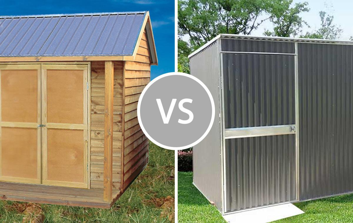 Timber or Steel garden shed