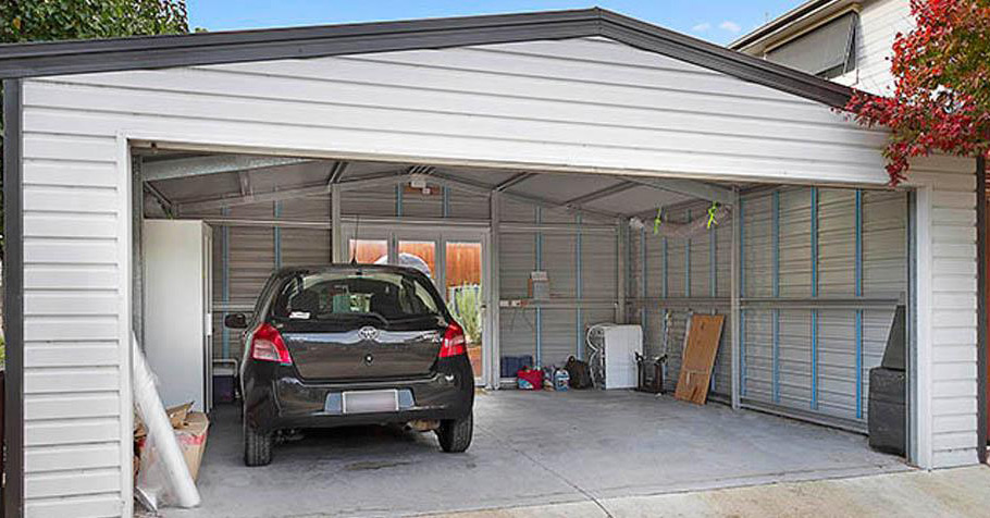 Single Amp Double Garage Shed Suppliers Melbourne
